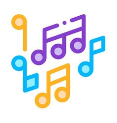 Melody music mono and treble notes icon vector
