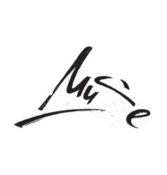 Muse lettering brushpen hand draw grunge isolated vector