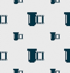 negative films icon symbol Seamless pattern with vector image