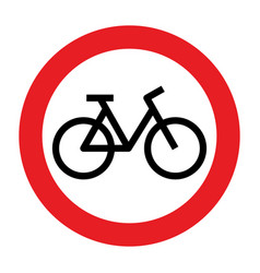no cycling allowed sign vector image