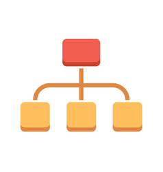 Organization flat icon vector