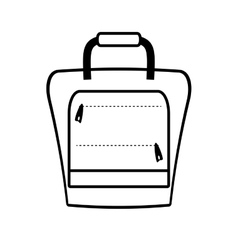 Outline suitcase packback travel bag tourist vector