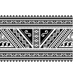 polynesian geometric seamless long pattern vector image
