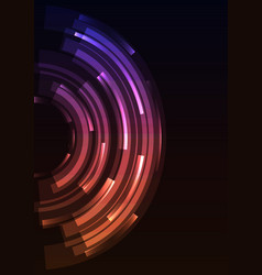 purple orange circle digital spiral abstract sheet vector image