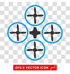 Quadcopter eps icon vector