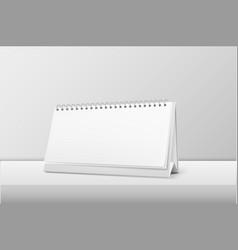 Realistic horizontal blank spiral calendar vector