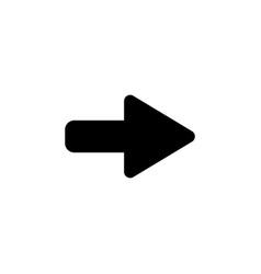 right arrow symbol icon black vector image