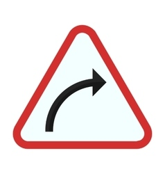 Right hand curve vector image