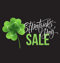saint patricks day sale poster lettering vector image