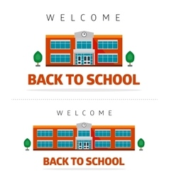 School building with slogan vector