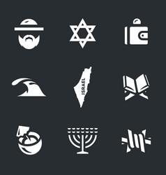 Set israel icons vector
