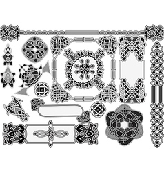 Set of elements of design vector image