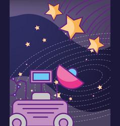 Space galaxy cosmic card vector