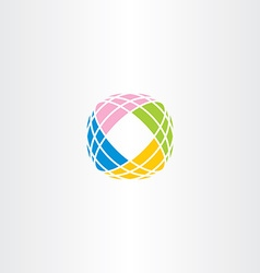 tech logo abstract colorful icon business symbol vector image vector image