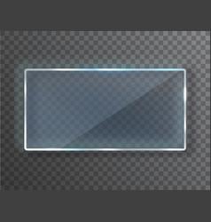 Transparent glass plate blank vector