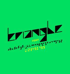triangle shape font design vector image