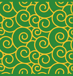 twirl damask vintage seamless pattern vector image