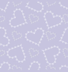 valentine day cute abstract lace hearts seamless vector image
