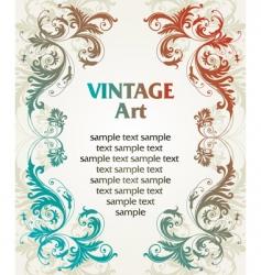 Vintage template frame vector
