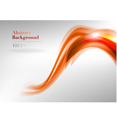wave neon light white curve orange and red vector image