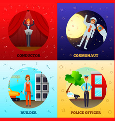 Woman professions concept vector