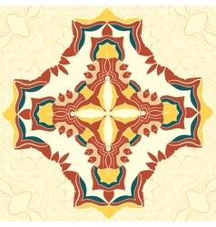 Brown and Yellow Mandala Decorative vector image vector image