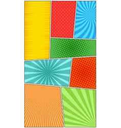comic book page vertical background vector image