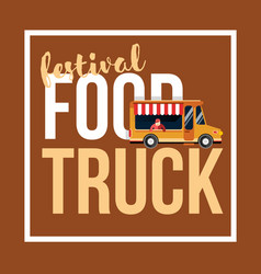 food truck festival vector image