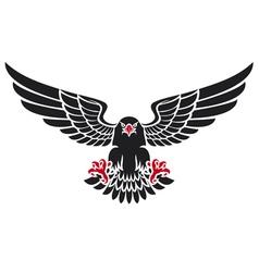 German black eagle vector image vector image