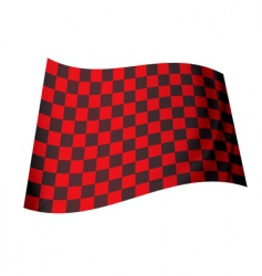 red checkered flag vector image vector image