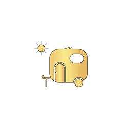 trailer computer symbol vector image