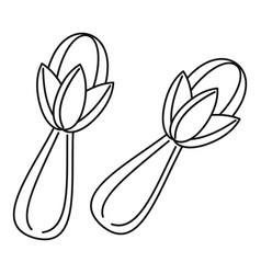 cloves icon outline style vector image