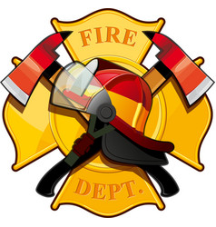 fire department badge vector image