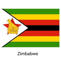 Flag of the country zimbabwe vector image vector image