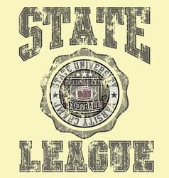football Varsity champ League vector image vector image