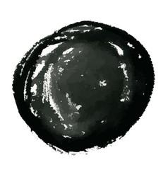 hand drawn grunge circle ink watercolor banner vector image vector image
