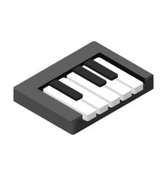 Piano keys isometric 3d icon vector image