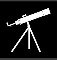 telescope the white color icon vector image