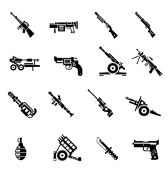 Weapon Icons Black vector image vector image