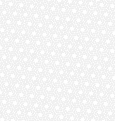 White hexagon seamless retro background vector image vector image