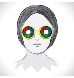 women wear colorful shutter goggle vector image