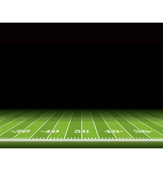 American Football Field Background vector image vector image