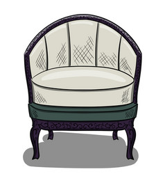 armchair in the style of art nouveau with white vector image