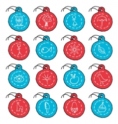 circle tags vector image vector image