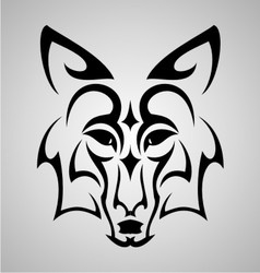 Fox Head Tattoo vector image vector image