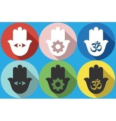 Hamsa symbol icon vector