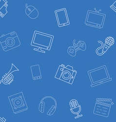 Multimedia object pattern seamless vector image
