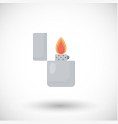 open lighter flat icon vector image