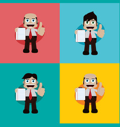 businessman manager at work cartoon art vector image vector image