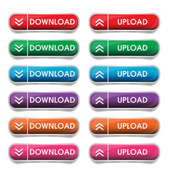 button download and upload vector image vector image